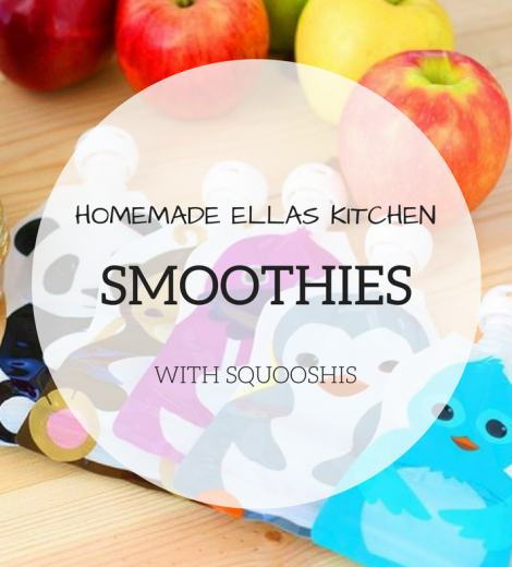 Homemade Ella's Kitchen Smoothies with Squooshi!