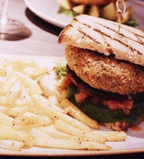 Portobello Mushroom & Black Bean Burger at Soul Aberdeen