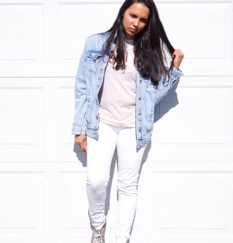 Outfit Of The Day : Pale Pinks, White Jeans & Studying